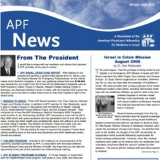 APF Newsletter, Winter 2006 – 2007