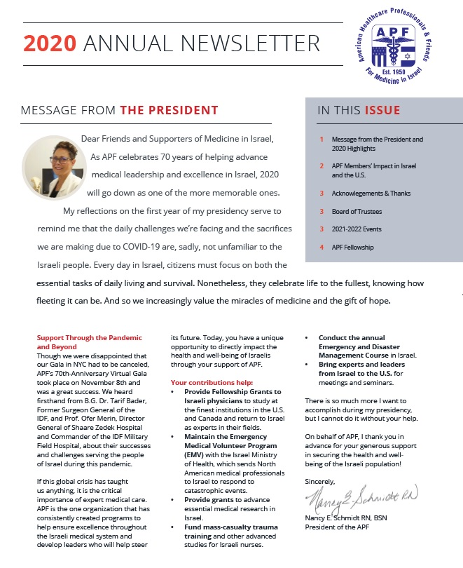2020 Annual Newsletter