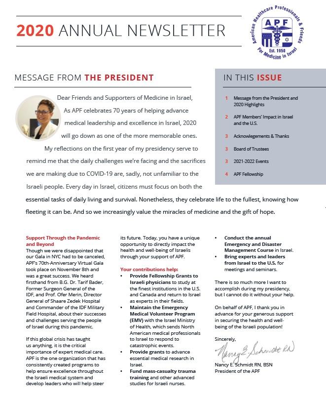 2020 Annual Newsletter